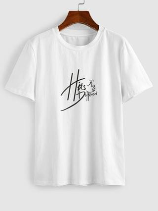 WOMEN Hits Different Graphic Funny Tee - White M