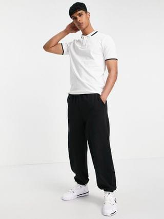 Only & Sons tipped polo in white