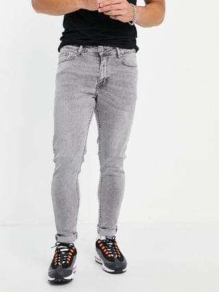 New Look skinny jeans in light washed gray