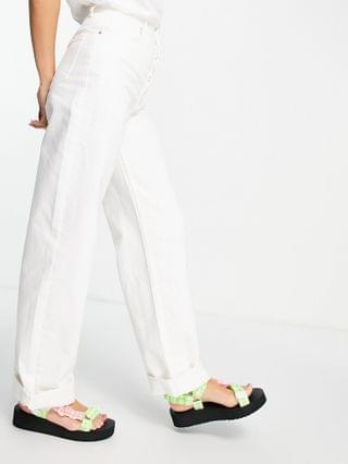 WOMEN Topshop One oversized mom jeans in white