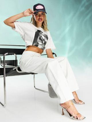 WOMEN ASYOU 90s dad jeans in optic white