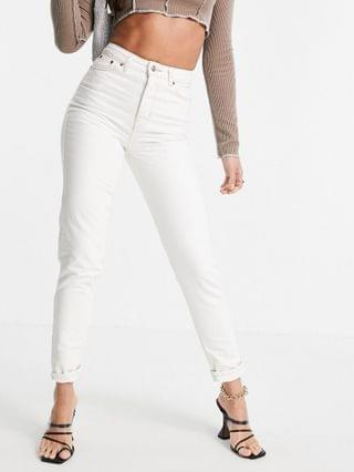 WOMEN Topshop Tall off white Mom jeans