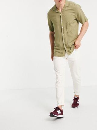 New Look tapered cord jeans in ecru