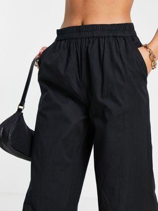 WOMEN Pretty Lavish relaxed pant with elastic waist in black - part of a set