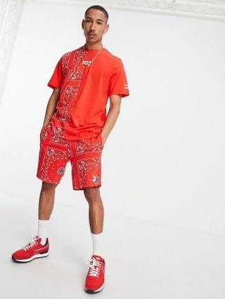 Puma Off Beat paisley shorts in red