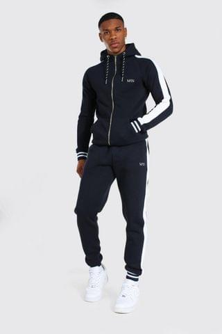 MEN Muscle Fit Tracksuit With Sports Rib