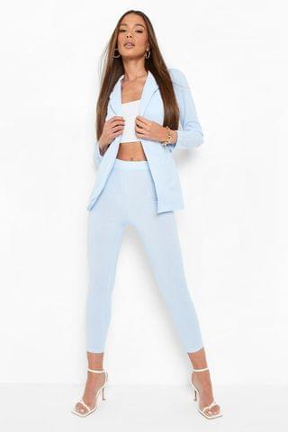 WOMEN Crepe Slim Fit Tailored Trousers