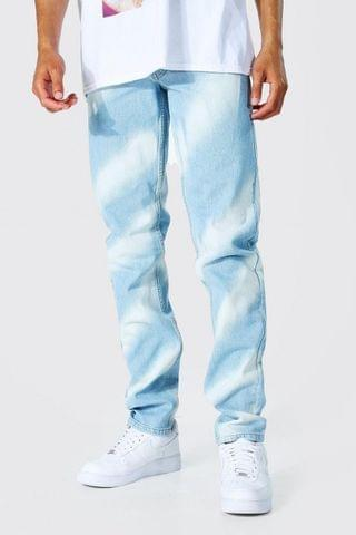 MEN Tall Relaxed Rigid Jean With Bleaching