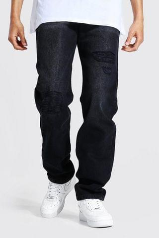 MEN Tall Relaxed Fit Rip And Repair Jean