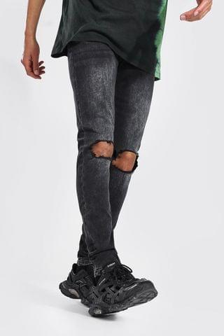 MEN Tall Skinny Stretch Jean With Busted Knees