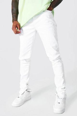 MEN Skinny Stretch Stacked Leg Jean With Zips