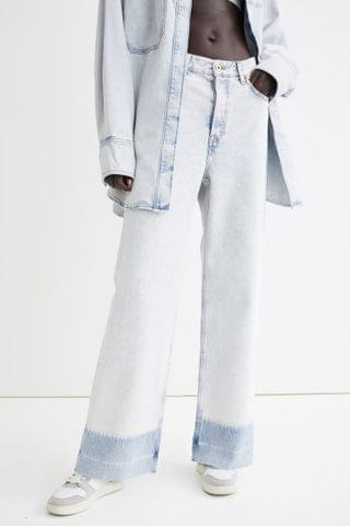 WOMEN Wide High Ankle Jeans