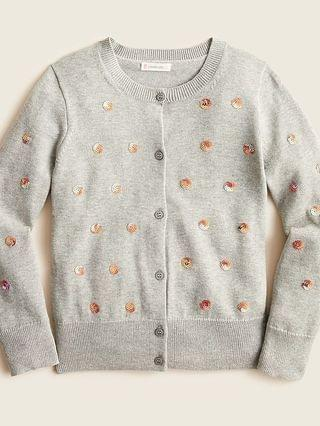 KIDS Girls' cardigan with sequin polka dots