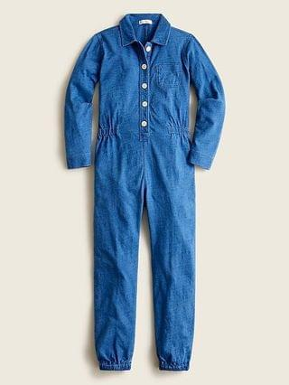 KIDS Girls' coverall suit in indigo