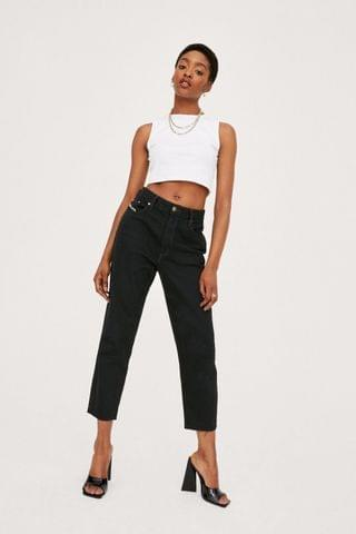 WOMEN Vintage High Waisted Tapered Cropped Jeans