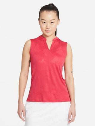 WOMEN Floral Sleeveless Golf Polo Nike Dri-FIT Victory