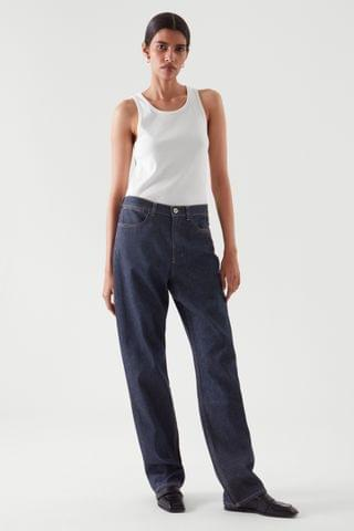 WOMEN RELAXED STRAIGHT-FIT JEANS