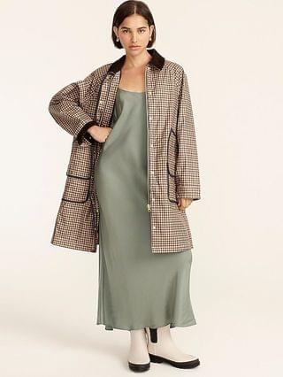 WOMEN Long Barn Jacket with removable PrimaLoft liner in honey plaid