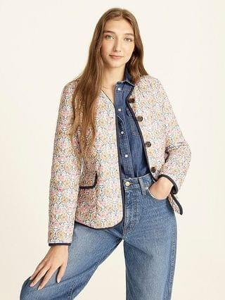 WOMEN Quilted puffer lady jacket in Liberty Honeysuckle floral with PrimaLoft
