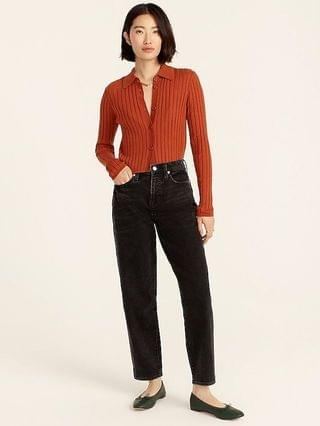 WOMEN High-rise Peggy tapered jean in washed black