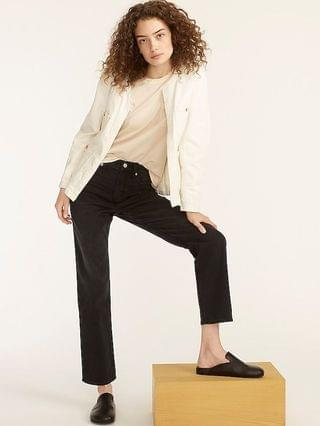 WOMEN High-rise '90s classic straight jean in Charcoal wash