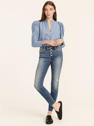 """WOMEN 9"""" high-rise toothpick jean in Hartley wash"""