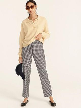WOMEN Pull-on straight-leg pant in check