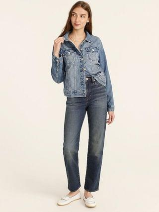 WOMEN High-rise '90s classic straight jean in Buoy wash