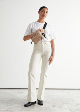 WOMEN Flared Cotton Trousers