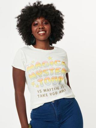 WOMEN Magical Mystery Tour Lyric Fitted Graphic Tee