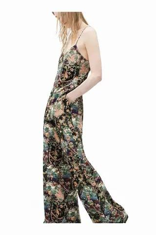 WOMEN Floral Wide Leg Beach Trouser With Side Pockets