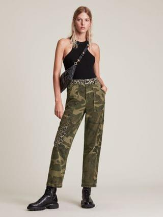 WOMEN Dessa High-Rise Camouflage Relaxed Jeans