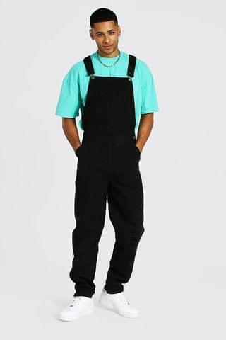 MEN Relaxed Fit Knee Rip Long Dungaree