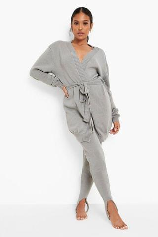 WOMEN Petite Recycled Wrap Cardigan Knitted Co-ord