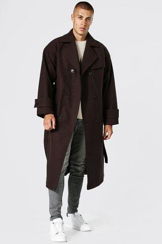 MEN Double Breasted Storm Flap Trench Overcoat