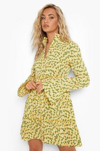 WOMEN Floral Tiered Smock Dress