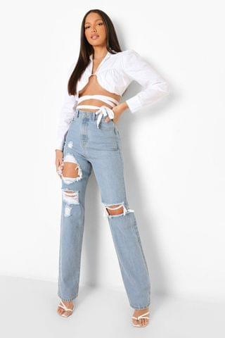 WOMEN Tall 90's Straight Leg Jeans With Rips