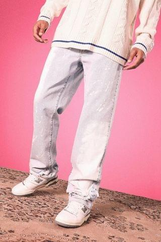 MEN Tall Relaxed Fit Washed Distressed Jean