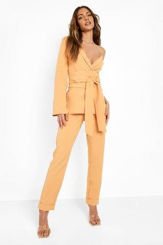 WOMEN Tailored Slim Fit Trousers