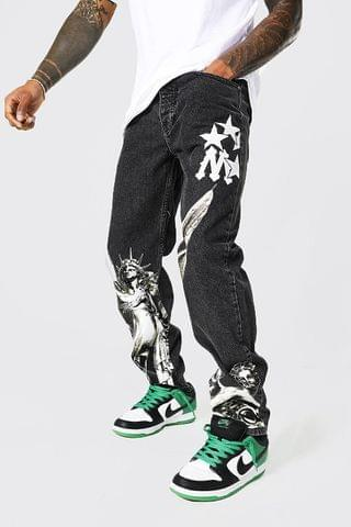 MEN Relaxed Fit Renaissance Printed Jeans