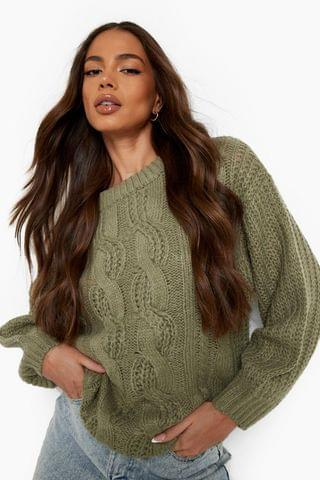 WOMEN Chunky Cable Knit Jumper