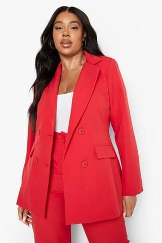 WOMEN Plus Tailored Double Breasted Blazer