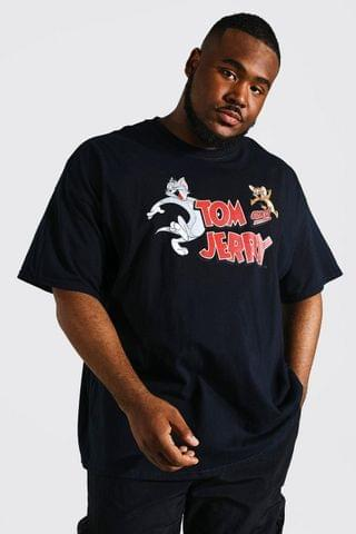 MEN Plus Tom And Jerry License T-shirt