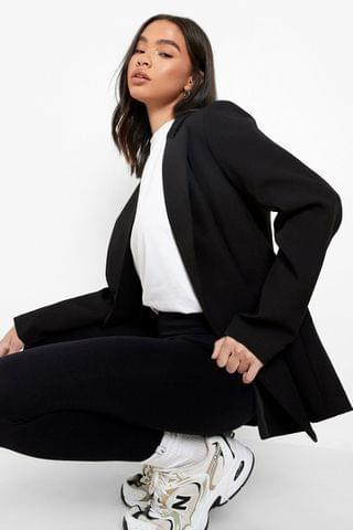 WOMEN Relaxed Fit Double Breasted Blazer