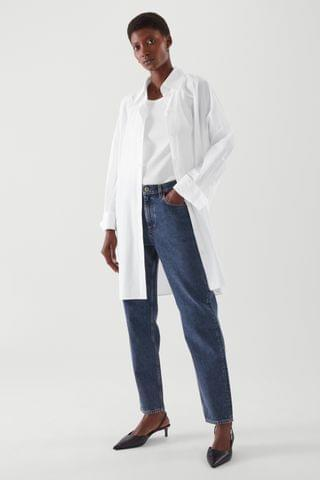 WOMEN CROPPED STRAIGHT JEANS