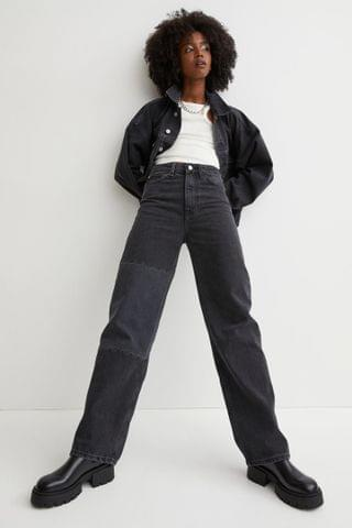 WOMEN Loose Straight High Jeans