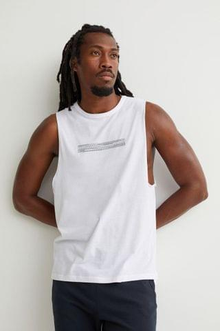 MEN Relaxed Fit Sports Tank Top