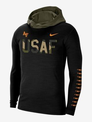 MEN Long-Sleeve Hooded T-Shirt Nike College (Air Force)