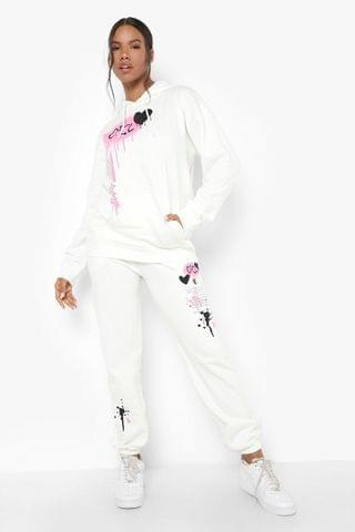 WOMEN Official Collection Printed Hooded Tracksuit