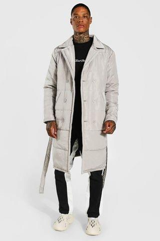MEN Padded Double Breasted Trench Coat